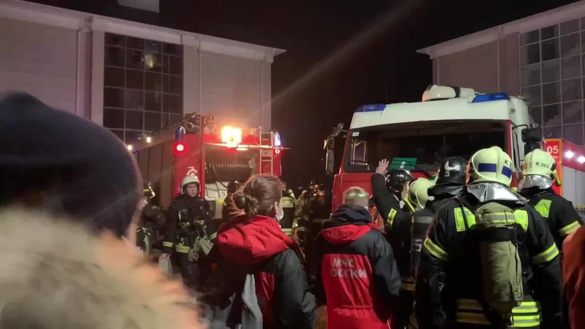 Россия: Два человека погибли, десять пострадали при пожаре в доме престарелых на западе Москвы