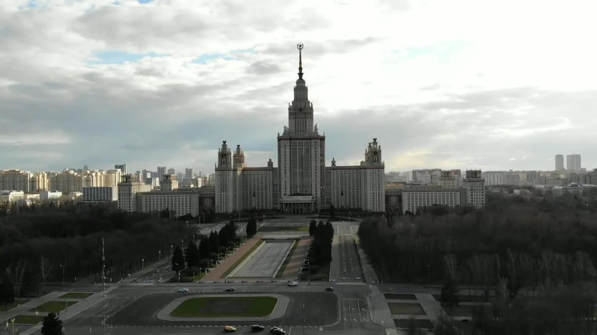 روسيا: لقطات جوية تُظهر خلو شوارع العاصمة موسكو بسبب الإغلاق الشامل