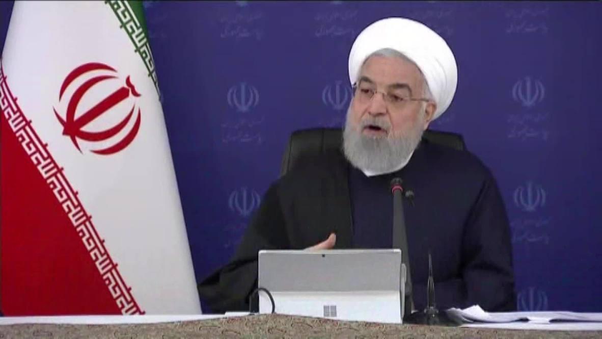 """إيران: روحاني يشير إلى أن خسارة بلاده """"أقل من غيرها"""" من الدول النفطية في ظل تدهور أسعار النفط"""