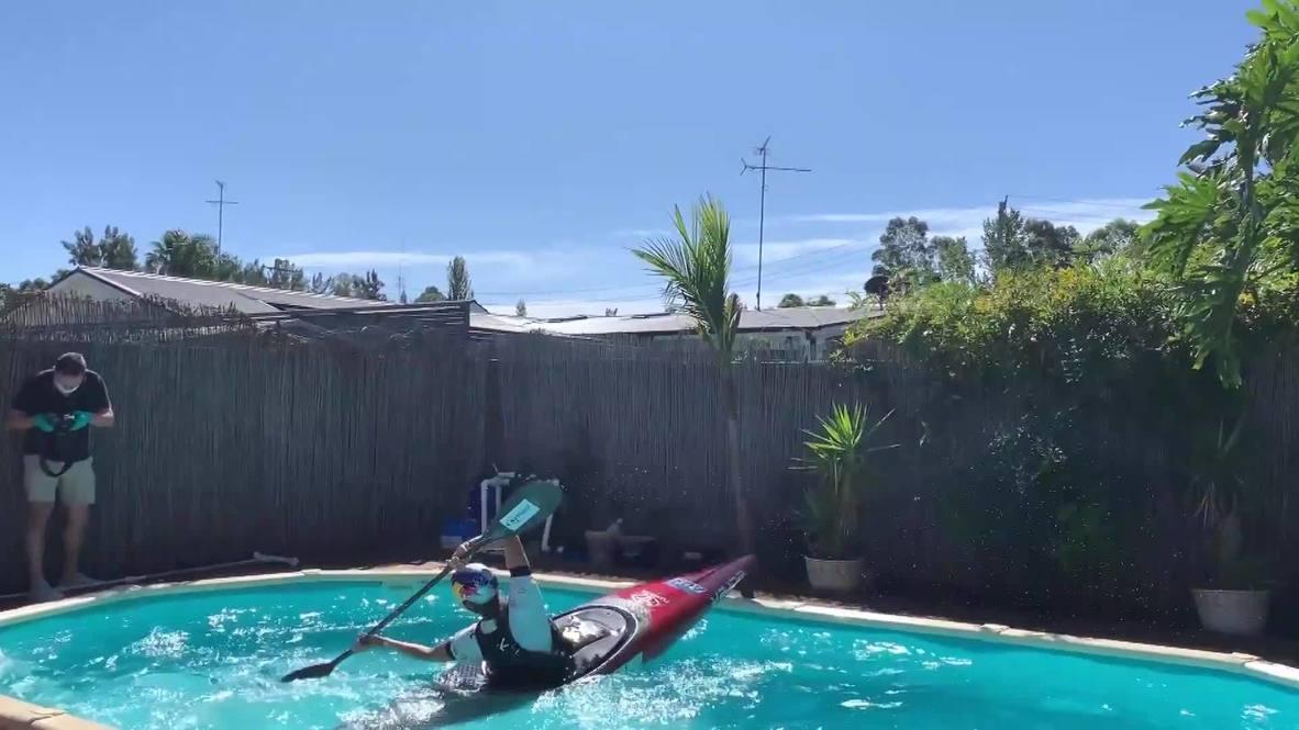 Греби, пока гребется. Олимпийский призер по слалому тренируется в домашнем бассейне