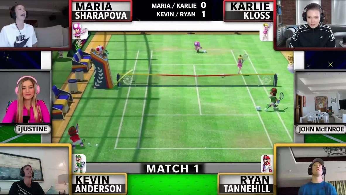 Мария Шарапова и Серена Уильямс поучаствовали в виртуальном благотворительном турнире Stay at Home Slam