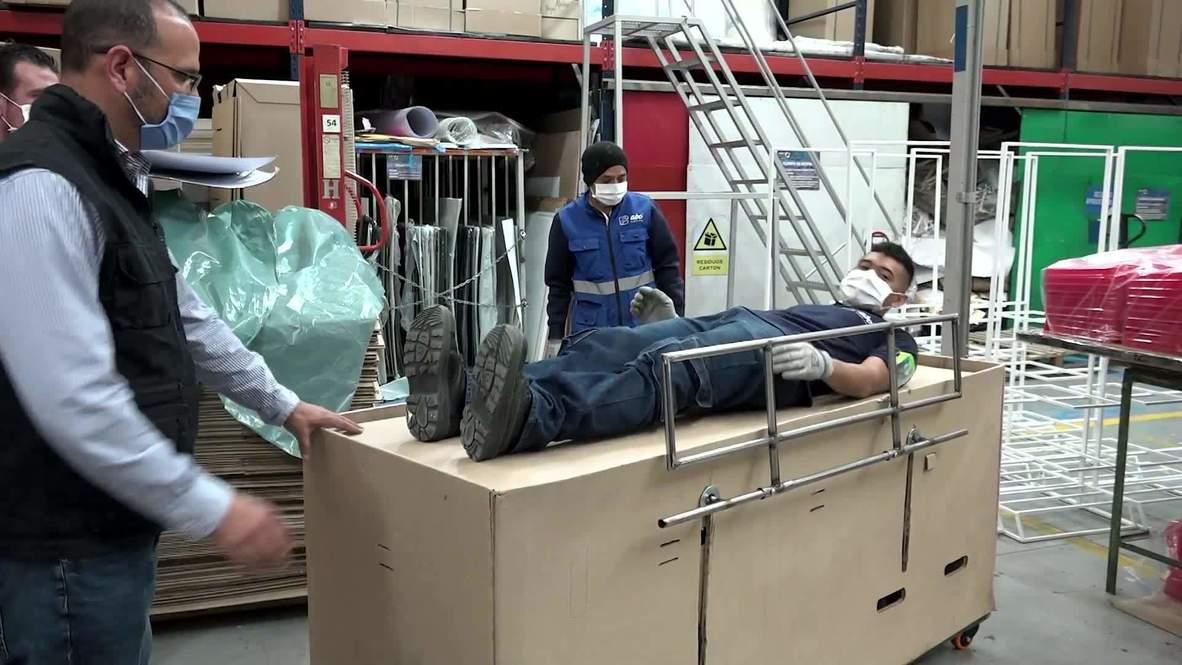 Colombia: Biodegradable cardboard beds built for Bogota hospitals