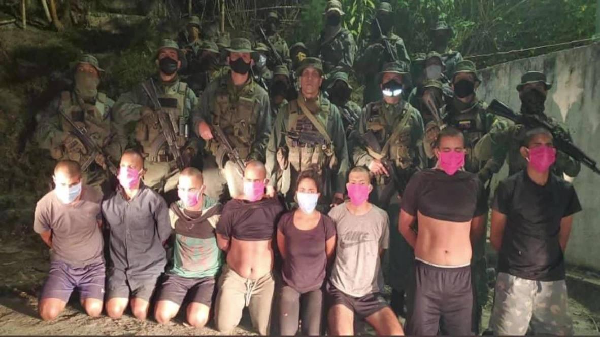 """فنزويلا: الجيش الفنزويلي يعتقل ثمانية مشاركين آخرين في عملية """"الغزو"""" الفاشلة *صور ثابتة*"""