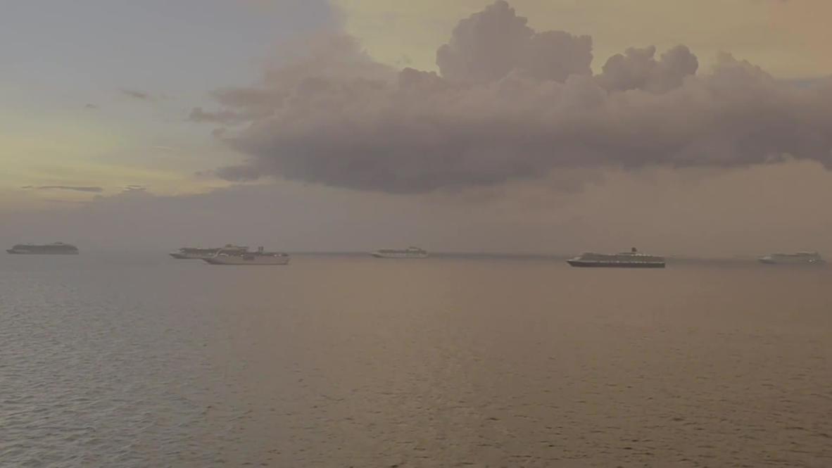 Filipinas: Cruceros copan la bahía de Manila mientras las tripulaciones esperan realizar pruebas de covid