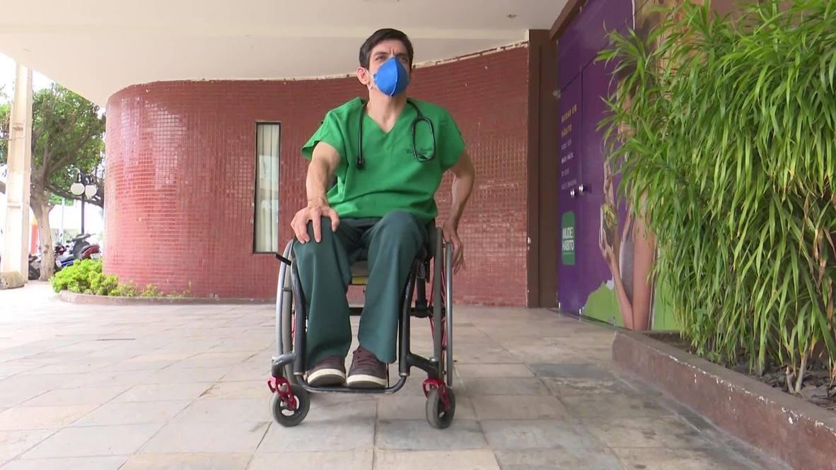 Brazil: Paraplegic doctor treats COVID-19 patients in Mossoro despite disability