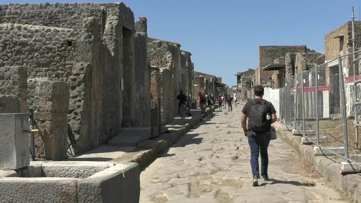 إيطاليا: إعادة افتتاح آثار بومبي أمام الزوار بعد إغلاقها بسبب فيروس كورونا