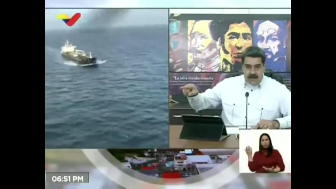Venezuela: President Maduro thanks Iran for sending oil tankers to Venezuela