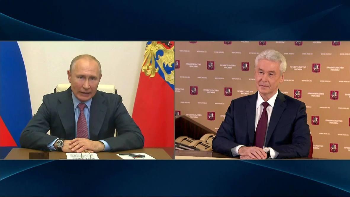 روسيا: عمدة موسكو يُخبر بوتين بإمكانية تخفيف القيود اعتباراً من 1 يونيو