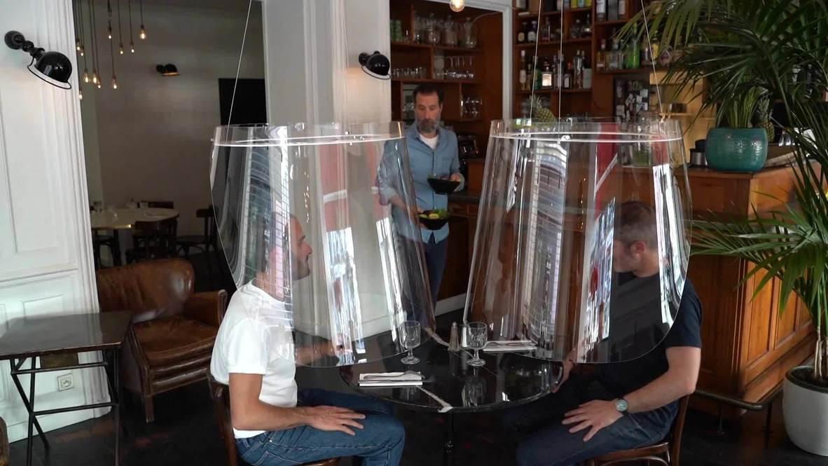 Франция: Защита из органического стекла для посетителей поможет ресторанам после COVID-19