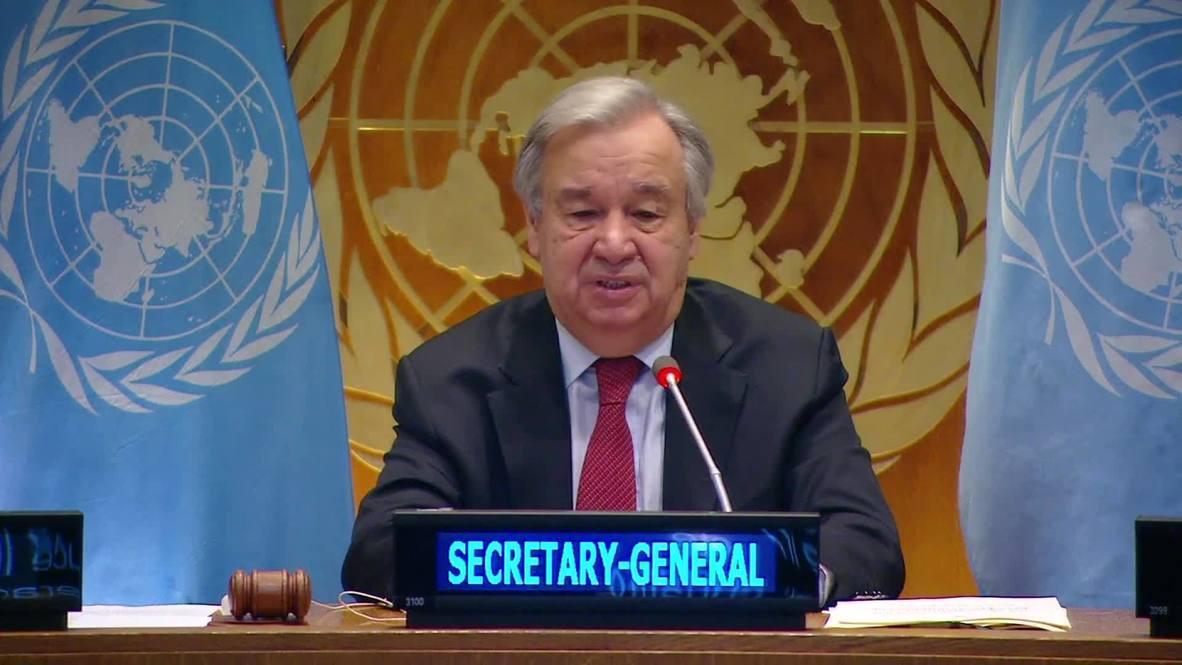 """ONU: Guterres advierte una """"devastación y sufrimiento inimaginables"""" debido al covid-19"""