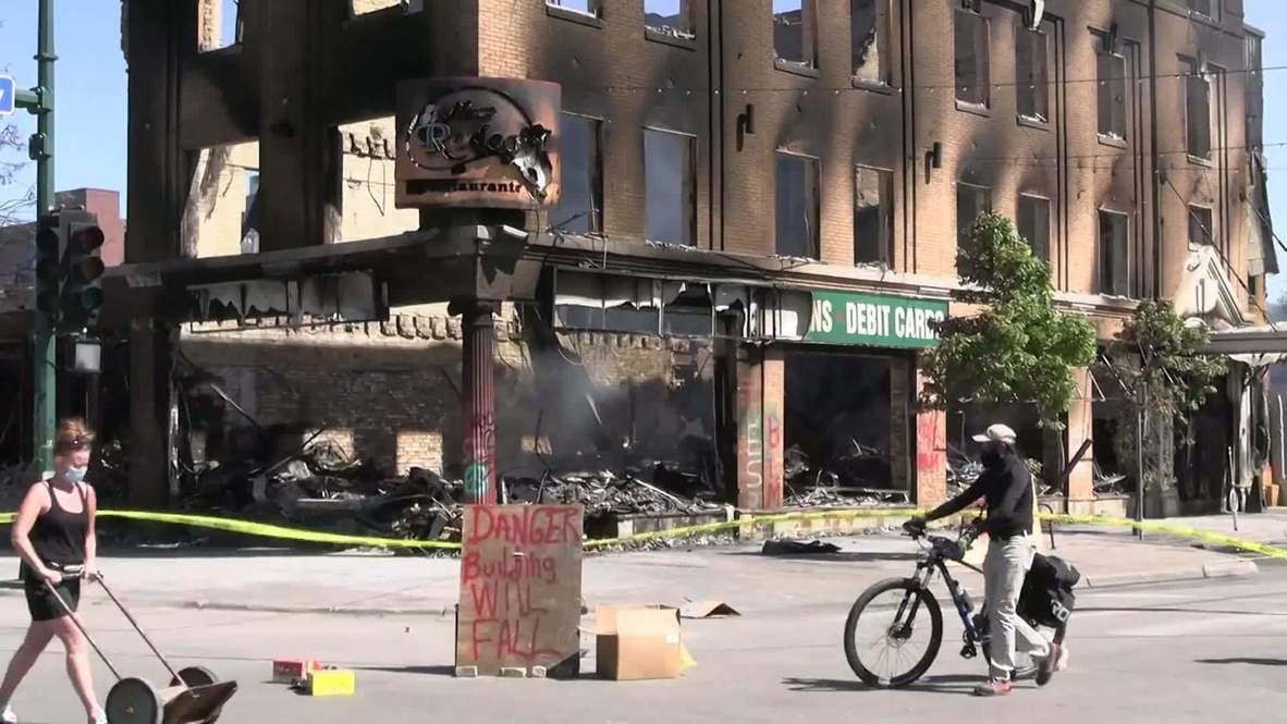 EE.UU.: Incendian el club nocturno donde Floyd y su presunto asesino trabajaron juntos en Mineápolis