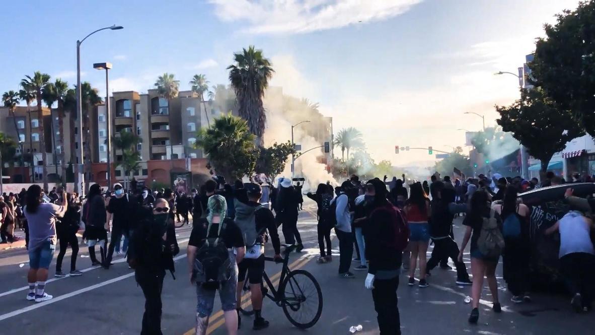EE.UU.: Gas lacrimógeno y calles bloqueadas en protestas por el asesinato de George Floyd en Los Ángeles