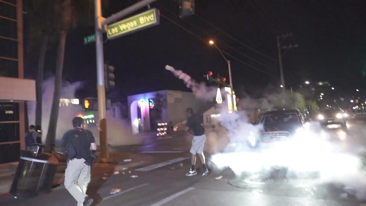 EE.UU.: La policía realiza varias detenciones en violentas protestas por el asesinato de Floyd en Las Vegas