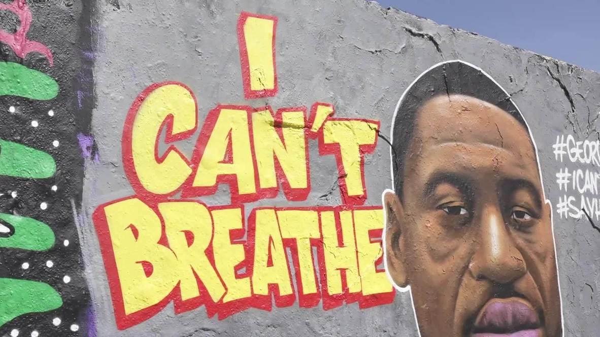 Germany: Mural in honour of George Floyd appears on former part of Berlin Wall