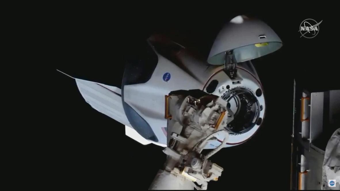 USA: SpaceX Crew Dragon docks with International Space Station