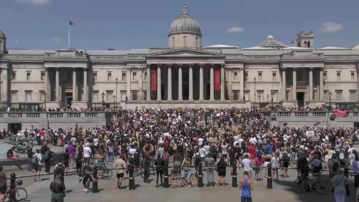 Reino Unido: Miles de personas se unen en una protesta contra el racismo en Londres