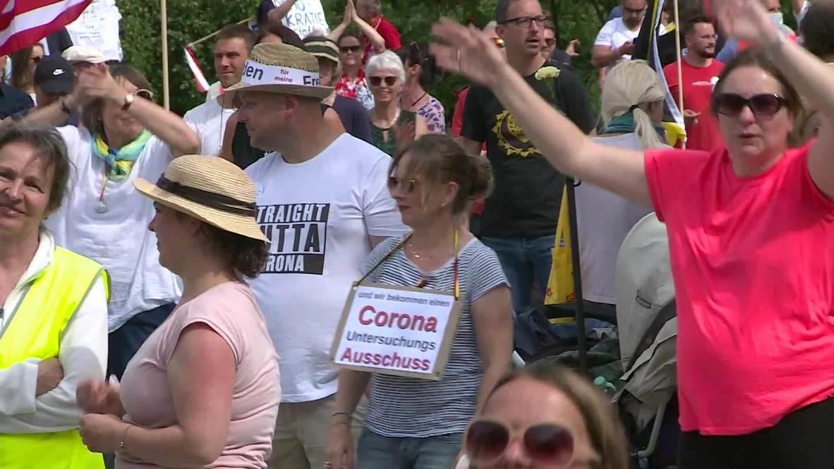 ألمانيا: مئات المشككين بفيروس كورونا يحتجون في شتوتغارت