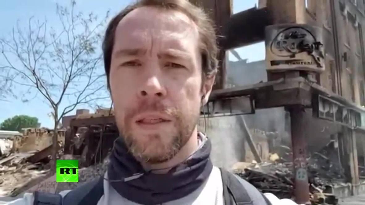 США: Нет объяснения такому насилию – российский журналист рассказал о нападении полиции во время протестов в Миннеаполисе *ПАРТНЕРСКИЙ КОНТЕНТ*