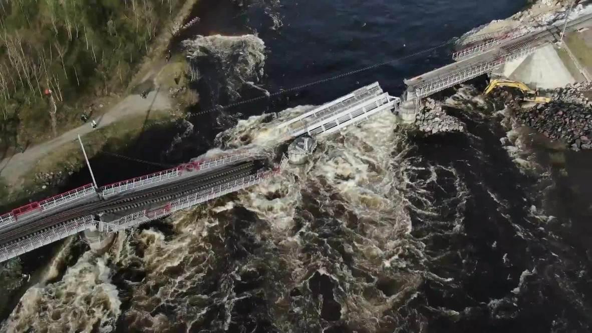 Россия: В Кольском районе Мурманской области введен режим ЧС из-за обрушения моста