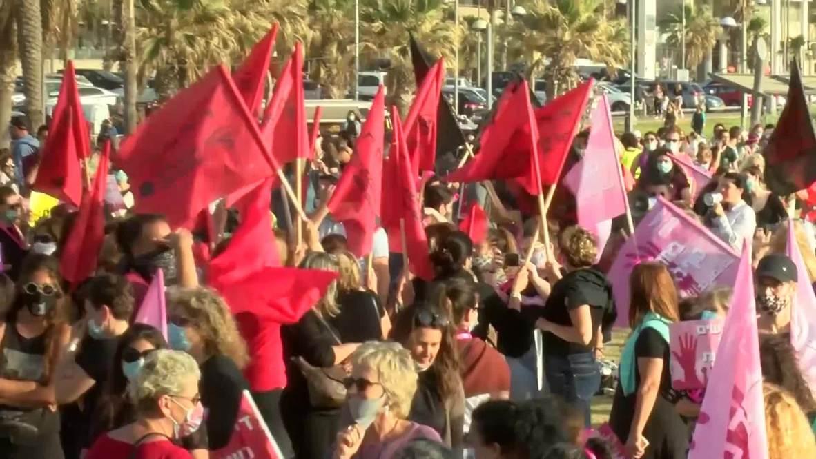 إسرائيل: الآلاف يتظاهرون في تل أبيب احتجاجا على العنف ضد المرأة