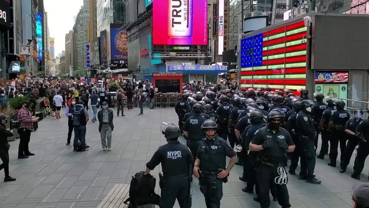 EE.UU.: Manifestantes llegan hasta Times Square para exigir justicia para George Floyd