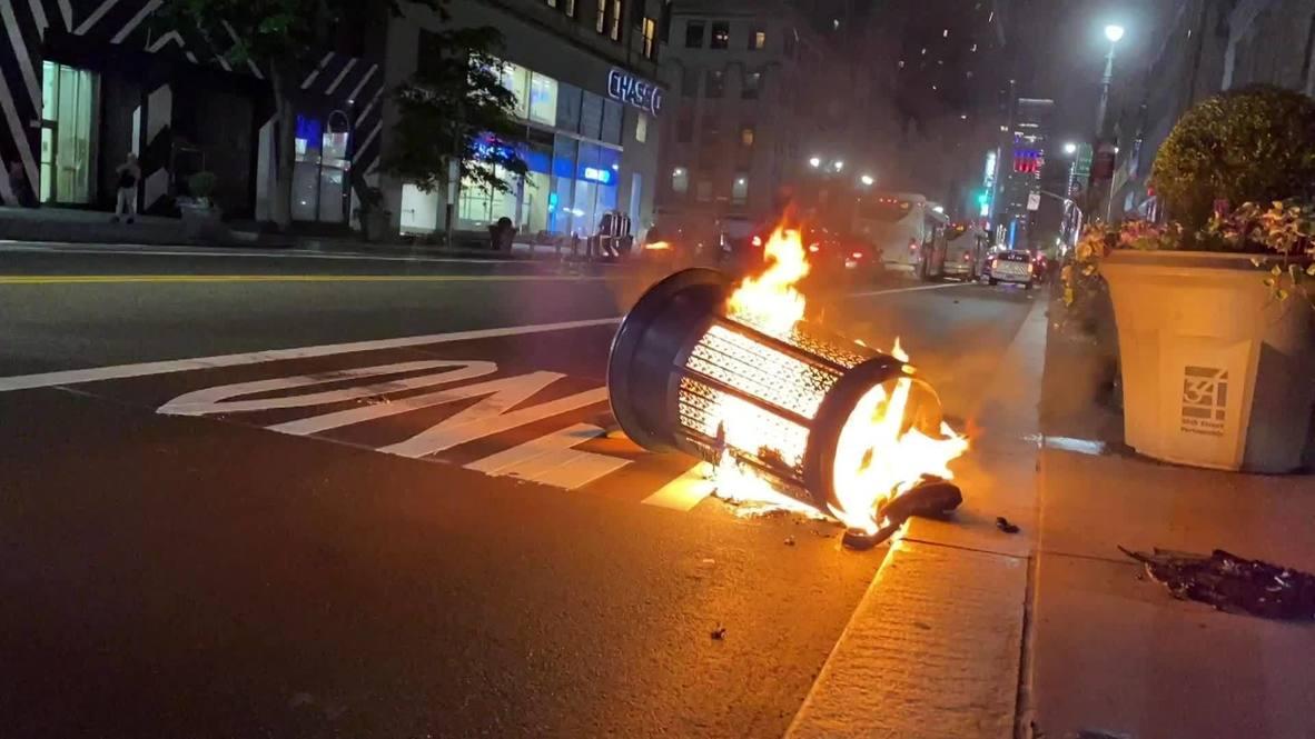 EE.UU: Incendios y saqueos en Manhattan antes del comienzo del toque de queda