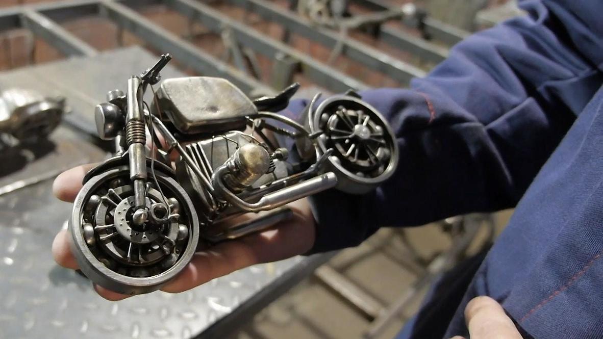 """""""Харлей"""" в твоих руках. Сварщик из Тюмени создает мини-копии мотоциклов"""