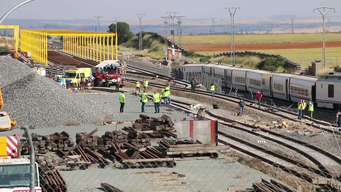 إسبانيا: مقتل شخصين جراء انحراف قطار عن مساره في زامورا