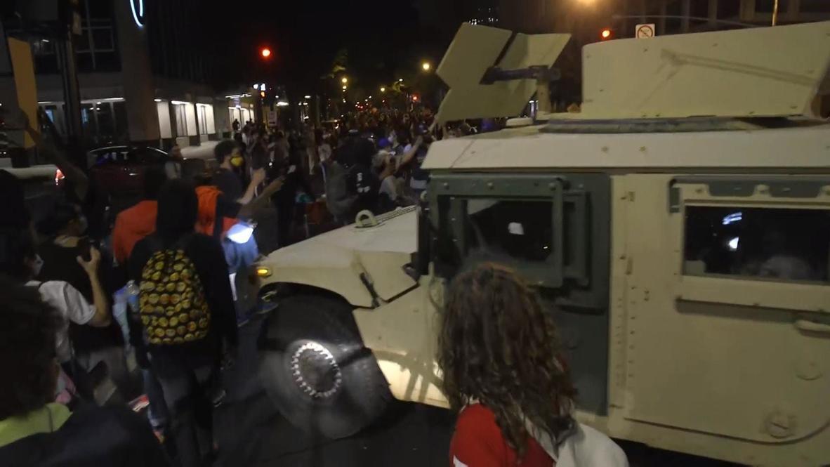 EE.UU.: Vehículos militares en las calles mientras las protestas por George Floyd continúan en D.C.
