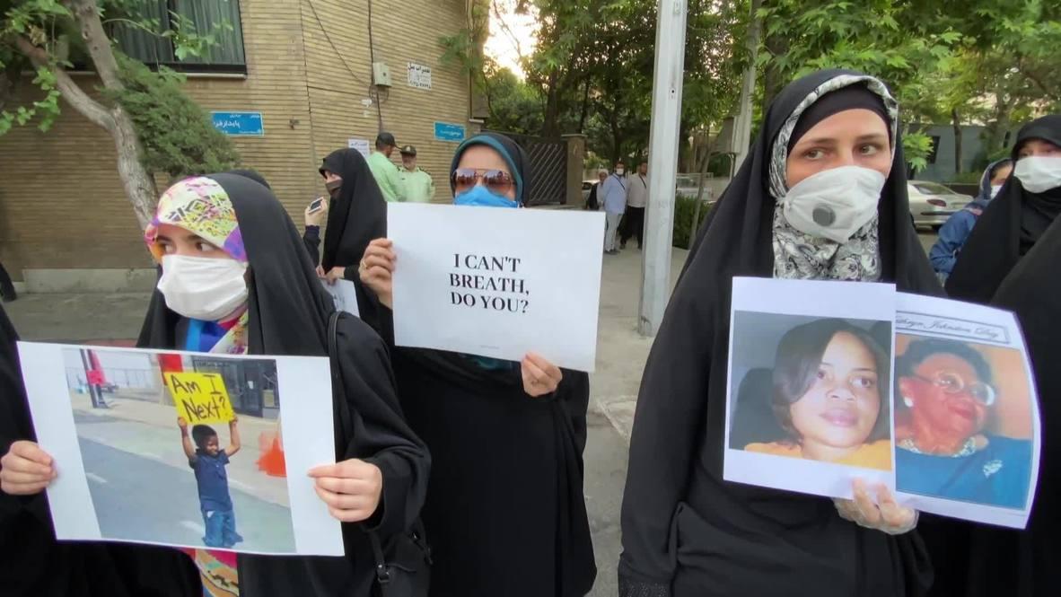 Irán: Estudiantes universitarios de Teherán protestan por el asesinato de George Floyd