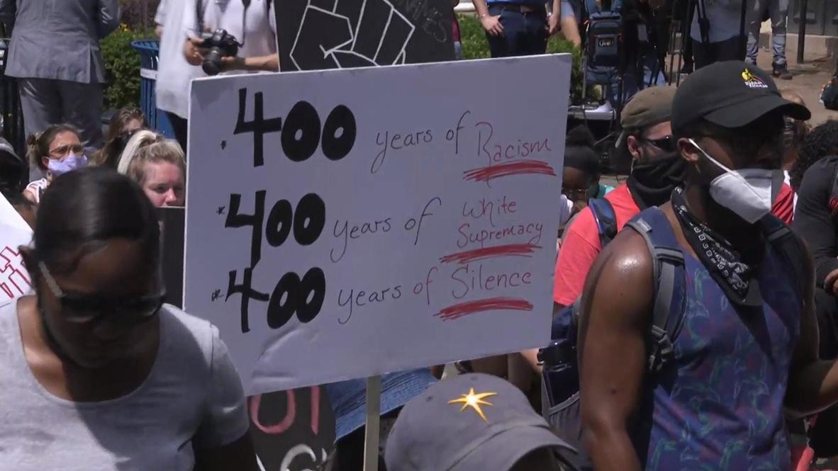 EE.UU.: 'No disparen' - Marcha por George Floyd frente al Capitolio de EE.UU.