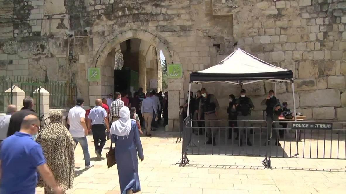 Jerusalén Este: Fieles acuden a la mezquita al-Aqsa al reanudarse las oraciones tras la pandemia