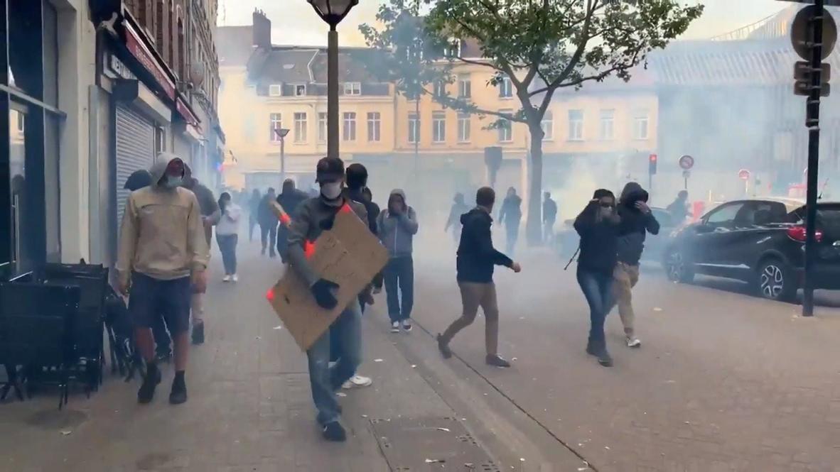 Francia: Policía dispara gas lacrimógeno contra manifestantes denunciando brutalidad en Lille