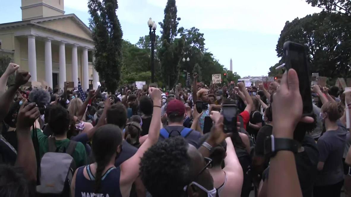 USA: Protesters flood Washington DC in anti-racism demo