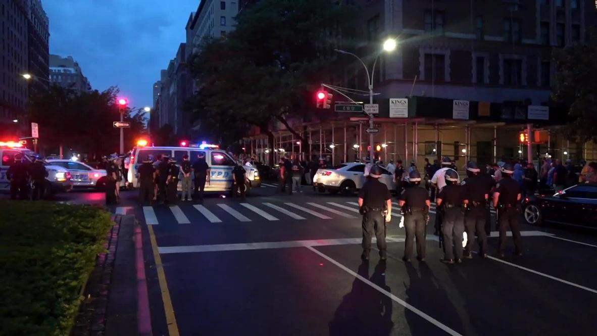 США: Десятки протестующих арестованы на Манхеттене за нарушение комендантского часа