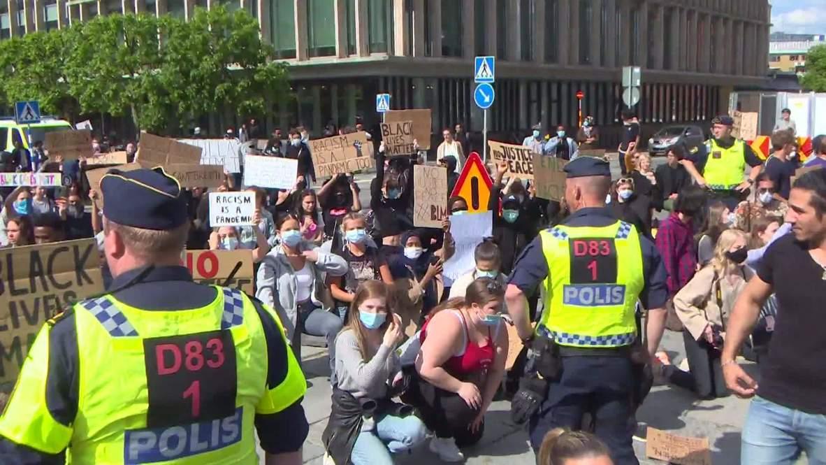 Suecia: Realizan varias detenciones en una manifestación de Black Lives Matter en Gotemburgo