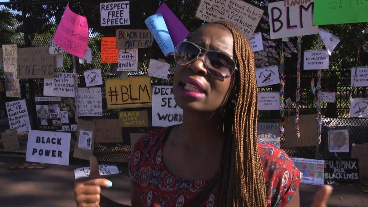 EE.UU.: Valla antidisturbios instalada alrededor de la Casa Blanca se transforma en un muro conmemorativo