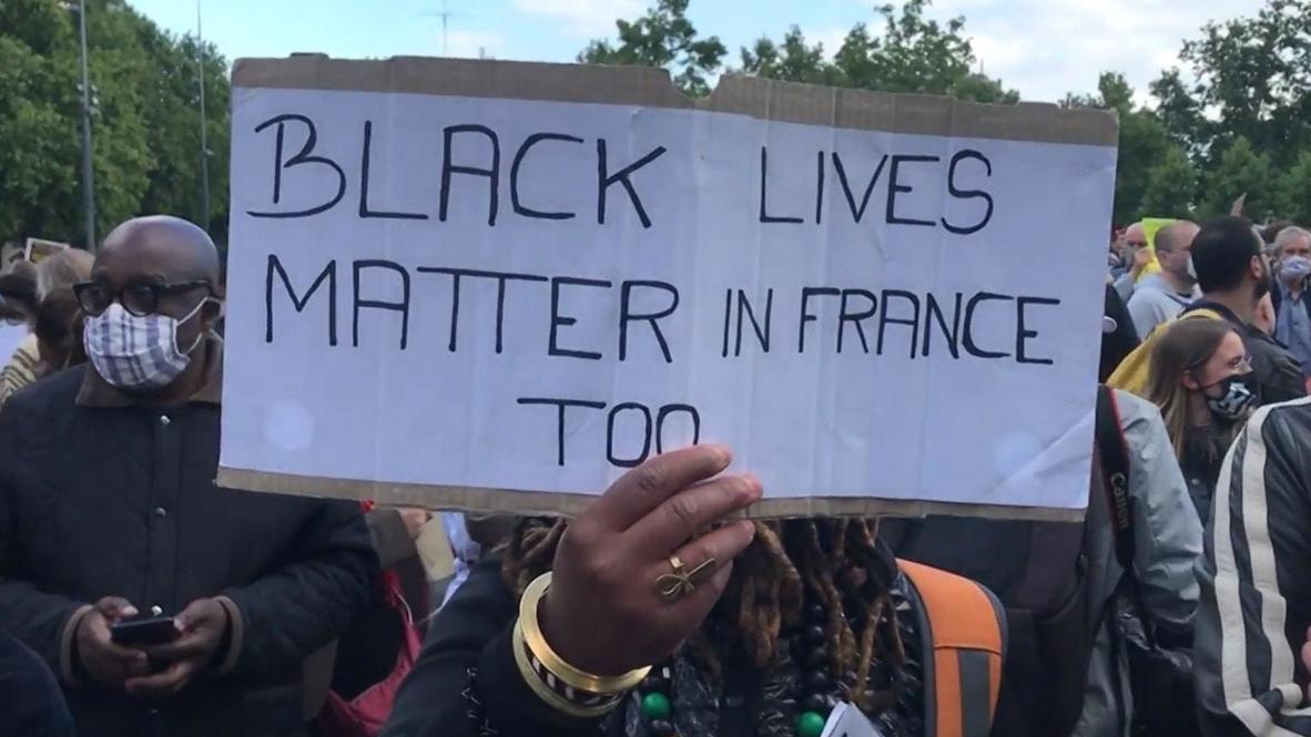 Francia: Parisinos se unen en manifestación contra el racismo en homenaje a George Floyd
