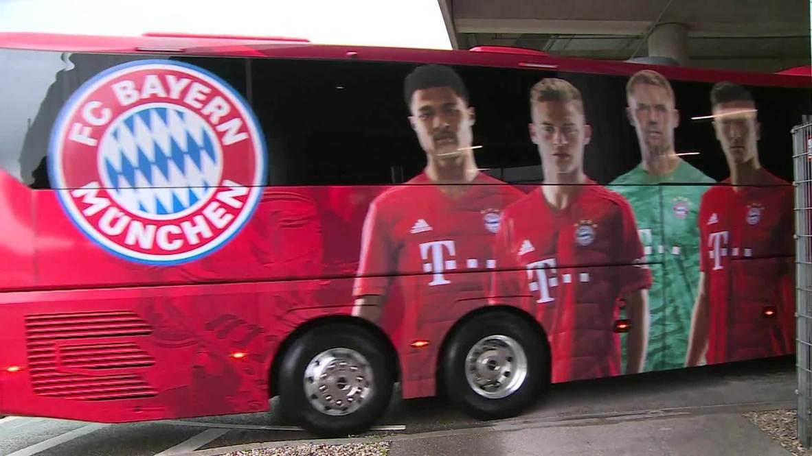 ألمانيا: بايرن ميونخ وآينتراخت فرانكفورت يصلان الملعب لخوض منافسات نصف نهائي كأس ألمانيا