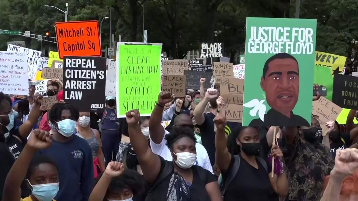 USA: NAACP leads 'march on Georgia' following Rayshard Brooks shooting in Atlanta