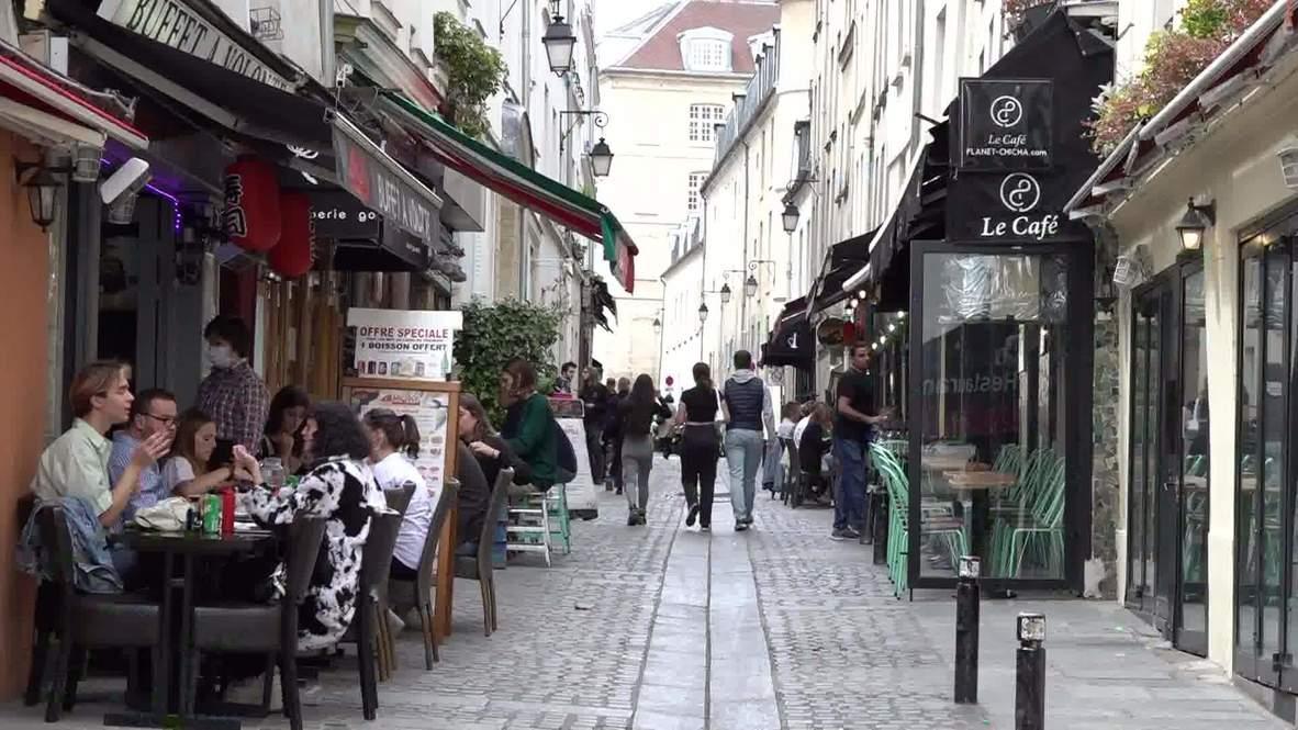 Francia: Parisinos abarrotan las terrazas de las cafeterías y restaurantes tras su reapertura