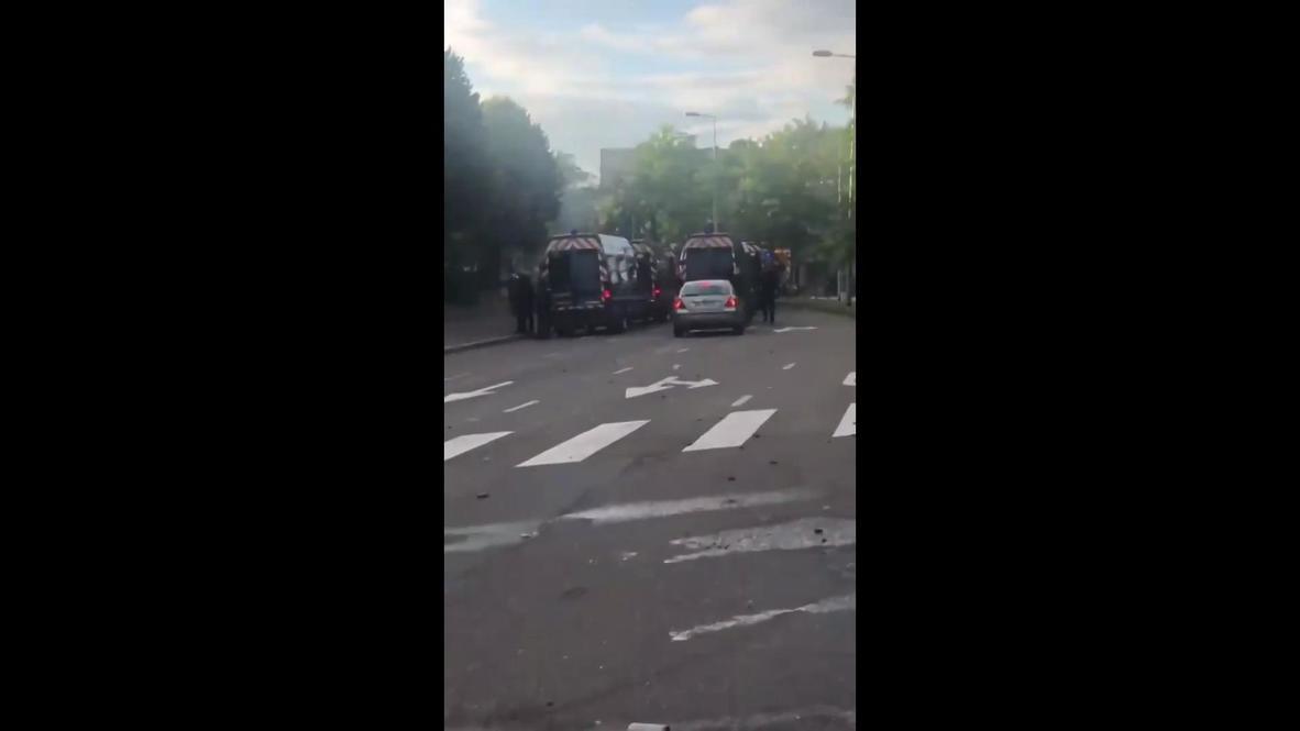 فرنسا: مقطع مصور من هاتف محمول يعرض آثار الاشتباكات في ديجون