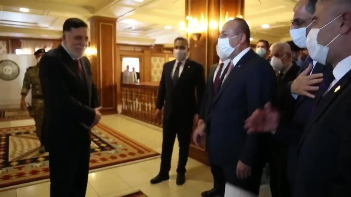 Libya: Turkish FM Cavusoglu meets with GNA leader Sarraj in Tripoli
