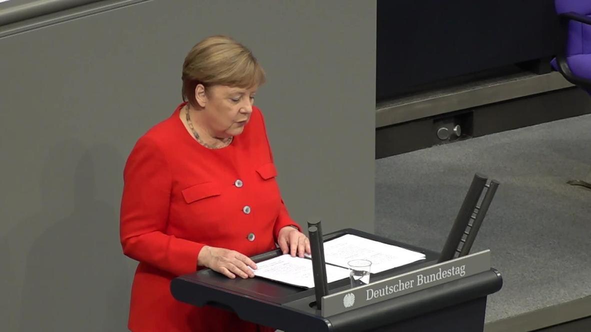 ألمانيا: ميركل تخاطب البوندستاغ بمناسبة استعداد ألمانيا لتولي رئاسة الاتحاد الأوروبي