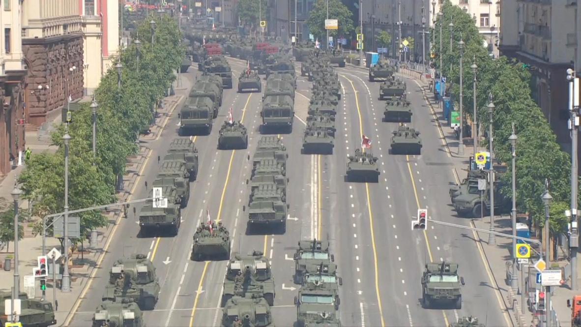 Rusia: Moscú ensaya desfile militar antes de la 75 aniversario del Día de la Victoria
