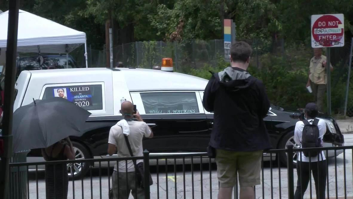 EE.UU.: Celebran velatorio público de Rayshard Brooks, joven asesinado por la policía