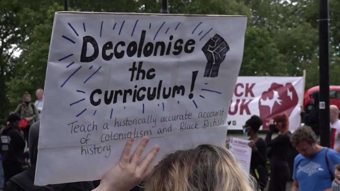 Reino Unido: Cientos de personas se unen a una protesta de Black Lives Matter en Londres