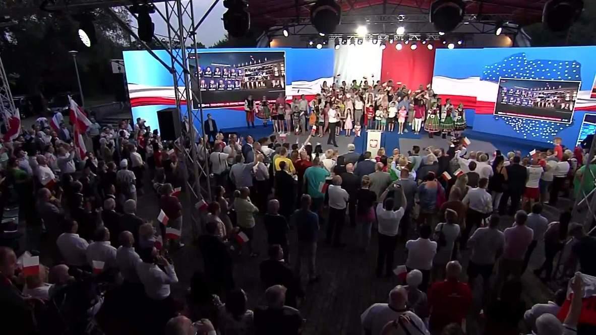 بولندا: مؤيدو دودا يحتفلون بتقدمه في الانتخابات الرئاسية وفق نتائج الاستطلاعات