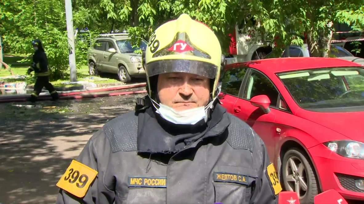 Россия: Три человека госпитализированы в результате пожара в жилом доме на северо-востоке Москвы - МЧС