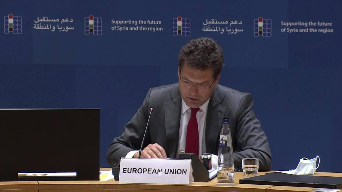 بلجيكا: الاتحاد الأوروبي يتعهد بتخصيص 6.9 مليار يورو لمساعدة السوريين المتضررين من الحرب